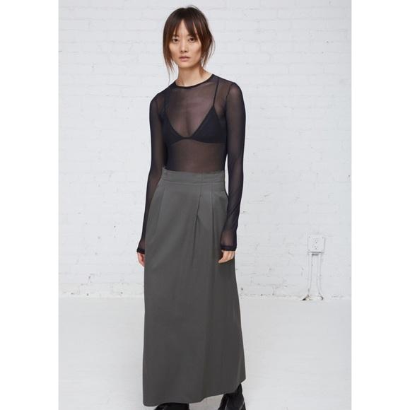 4e42572e3 MM6 Maison Martin Margiela Dresses | Mm6 Mesh Long Sleeve Wool Combo ...